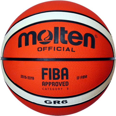 Molten BGR-OI Rubber Series Fiba Approved Training//Drill 12 Panel Basketball New